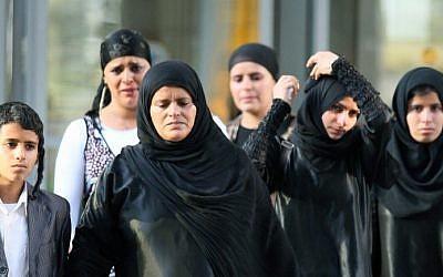 Illustrative photo of Yemenite Jews arriving at Ben Gurion Airport in 2012 (photo credit: Moshe Shai/Flash90)