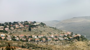 A West Bank settlement. May 2012. (photo credit: Moshe Shai/FLASH90)