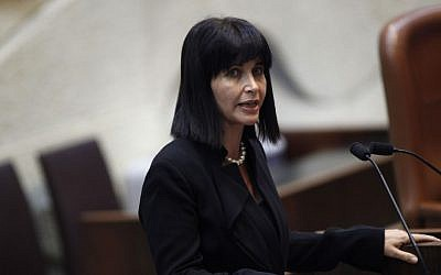 Einat Wilf addresses the Knesset, October 15, 2012. (Miriam Alster/Flash90)