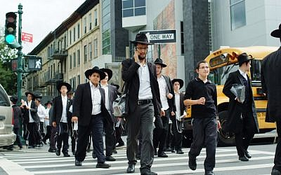 Illustrative photo of ultra-Orthodox Jews in Brooklyn, New York. (Mendy Hechtman/Flash90)