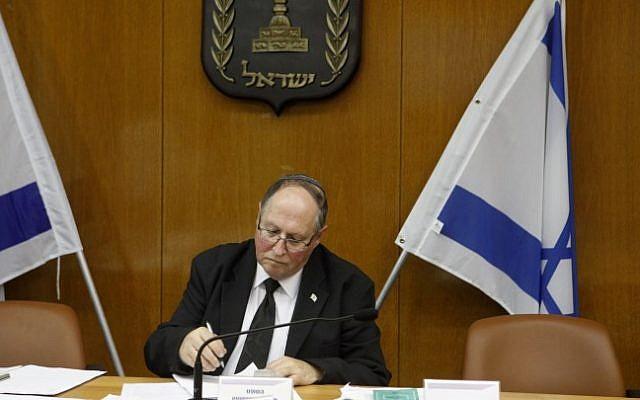 Elyakim Rubinstein, head of the Israeli electoral committee (photo credit: Miriam Alster/Flash90)