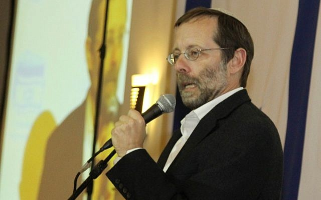 Likud candidate Moshe Feiglin at the third annual Conference on the Application of Israeli Sovereignty to Judea and Samaria, on Tuesday, January 1, 2013 (photo credit: Gershon Elinson/Flash90)