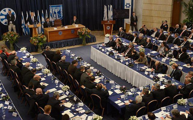 Prime Minister Benjamin Netanyahu addresses Israel's ambassadors at the Foreign Ministry in Jerusalem on Thursday, January 03 (photo credit: Moshe Milner/GPO/Flash90)