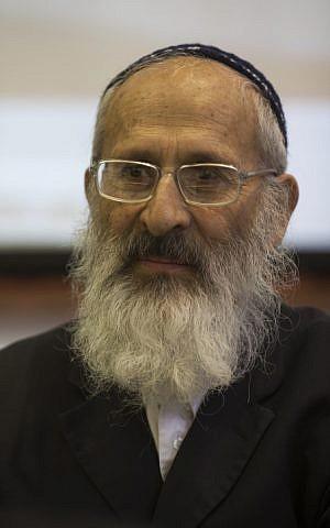 Rabbi Shlomo Aviner (photo credit: Yonatan Sindel/Flash90)