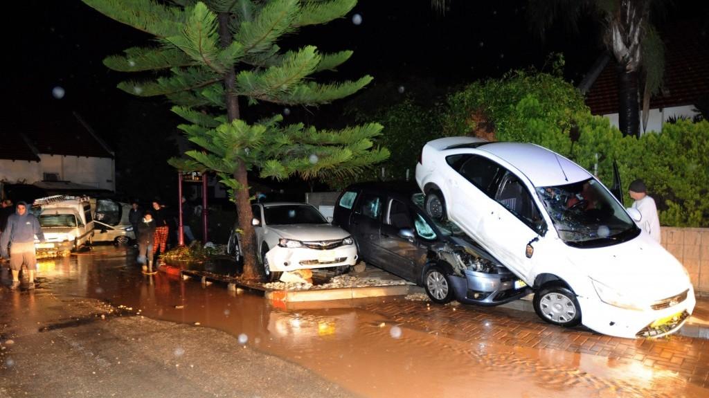 Heavy Rain Caused Severe Flooding In The Town Of Bat Hefer East Netanya