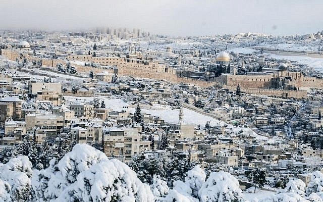 Jerusalem looking more like Oslo. (photo credit: Uri Lenz/Flash90)
