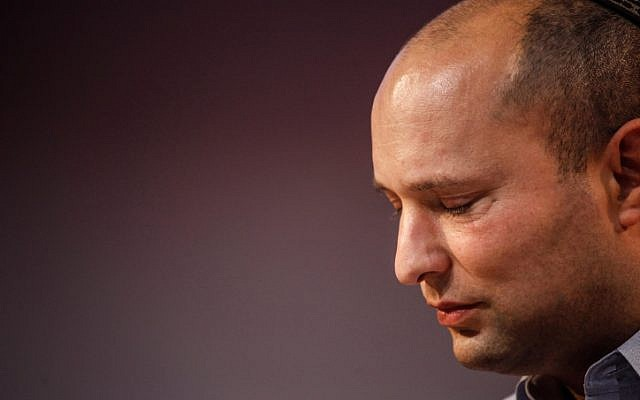 Naftali Bennett, leader of the Jewish Home party, January, 2013 (photo credit: Uri Lenz/Flash90)