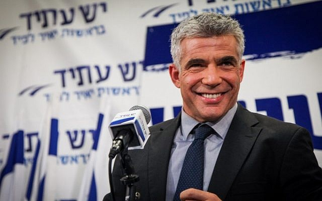 Yair Lapid speaks to supporters in Tel Aviv after the release of election exit polls, January 2013. (photo credit: Shaar Yashuv/Flash90)