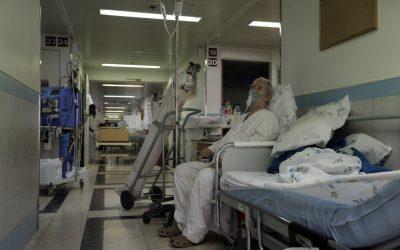 A patient in the hallway of Barzilai Hospital in Ashkelon. (photo credit: Tsafrir Abayov/Flash90)