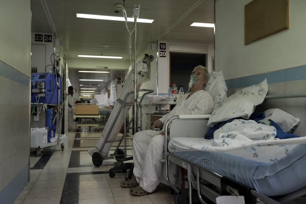 A Patient In The Hallway Of Barzilai Hospital Ashkelon Photo Credit Tsafrir