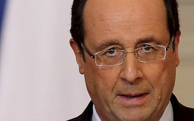 French President Francois Hollande (photo credit: AP/Philippe Wojazer/File)