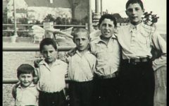 "The Arbeiter brothers -- their mother's ""basketball team"" -- grew up in Plock, Poland, before World War II. (Courtesy of Israel Arbeiter)"
