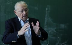Arbeiter speaks about his experiences at a school in Germany, part of a decades-long commitment to Holocaust education. (Courtesy of Israel Arbeiter)