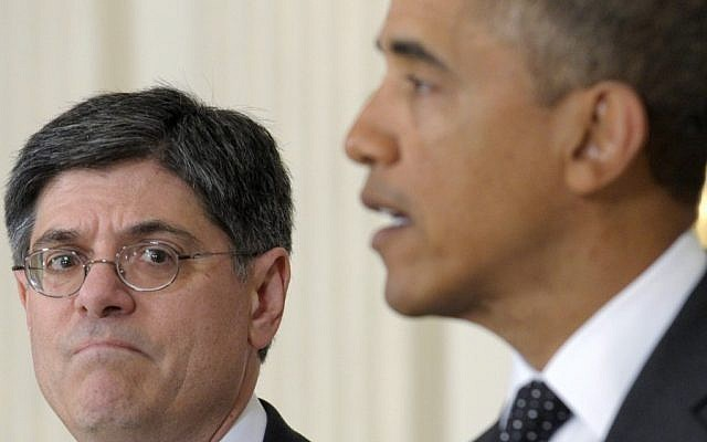 Jack Lew with President Barack Obama in the White House ( AP/Susan Walsh, File)