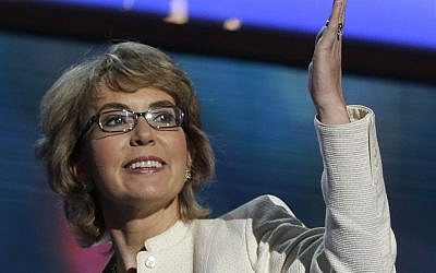 Former Arizona Rep. Gabrielle Giffords, Sept. 6th, 2012 (photo credit: AP/Charles Dharapak)