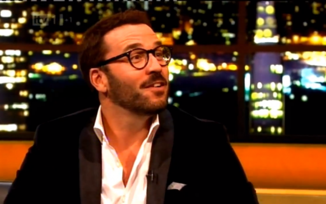Jeremy Piven on The Jonathan Ross Show on Saturday (photo credit: screenshot from YouTube)