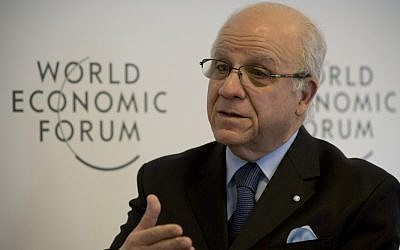Algerian Foreign Minister Mourad Medelci speaks Friday during an interview with the Associated Press at the 43rd Annual Meeting of the World Economic Forum in Davos, Switzerland (photo credit: Anja Niedringhaus/AP)