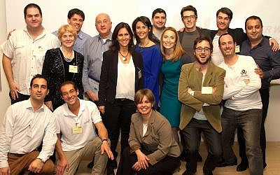 Members of TheHive's latest group of entrepreneurs (photo credit: Courtesy)