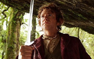 "In ""The Hobbit,"" Bilbo Baggins discovers trouble brewing in the forests of Middle-earth. (Courtesy of Warner Bros. via JTA)"
