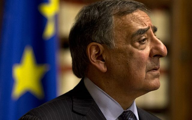 US Defense Secretary Leon Panetta pauses during a news conference in Rome, Wednesday, Jan. 16, 2013, in which he confirmed that American citizens are among the hostages taken by an Al Qaeda-linked group that seized a gas field in Algeria. (Photo credit: AP/Jacquelyn Martin)