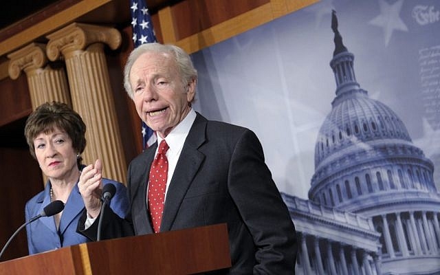 Senator Joseph Lieberman in Washington. (photo credit: AP/Susan Walsh)