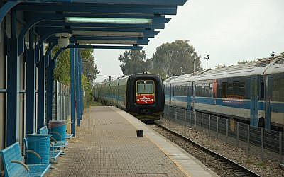 An Israeli train station in winter (illustrative photo credit: david55king/Flickr)