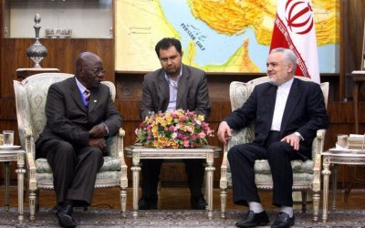 A meeting between former Iranian Vice President Mohammed Reza Rahimi and a minister from Zimbabwe, June 25, 2011 (photo credit: Iranian presidential website)