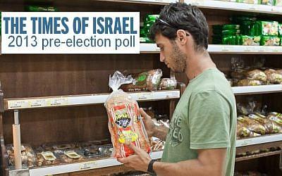 Buying bread (photo credit: Noam Moskowitz/Flash90)