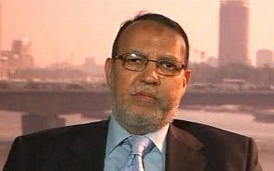 Essam al-Erian, the deputy head of the Egyptian Muslim Brotherhood's Freedom and Justice Party (photo credit: BBC screen capture)