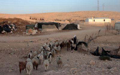 A Bedouin settlement in the Negev (illustrative photo credit: Alana Perino/Flash90)