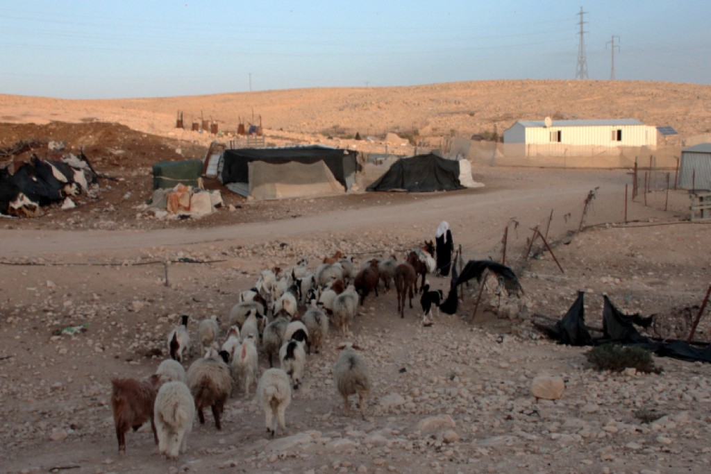 A Bedouin settlement in the Negev (illustrative photo credit: Alana Perino/Flash90)