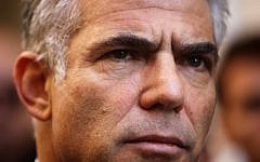 Yair Lapid, head of the Yesh Atid party. (photo credit Miriam Alster/FLASH90)