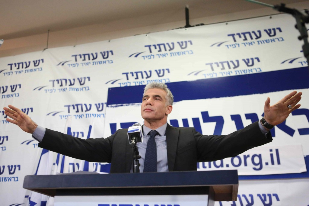Yair Lapid delivered a sobering message to his supporters last night after receiving 19 seats in Knesset (Photo credit: Flash 90)