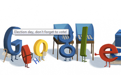 Google's doodle on election day (photo credit: screen shot, Google)