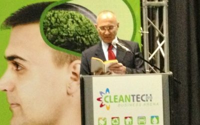 Energy and Water Minister Uzi Landau speaks at the Cleantech Business Forum (Photo credit: Courtesy)