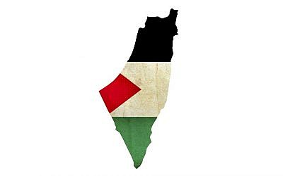 Israel or 'Occupied Palestine'? (illustrative map image via Shutterstock)