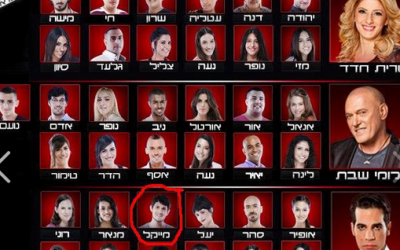 The current crop of contestants on The Voice, included Michael Jade, circled below (Courtesy The Voice)