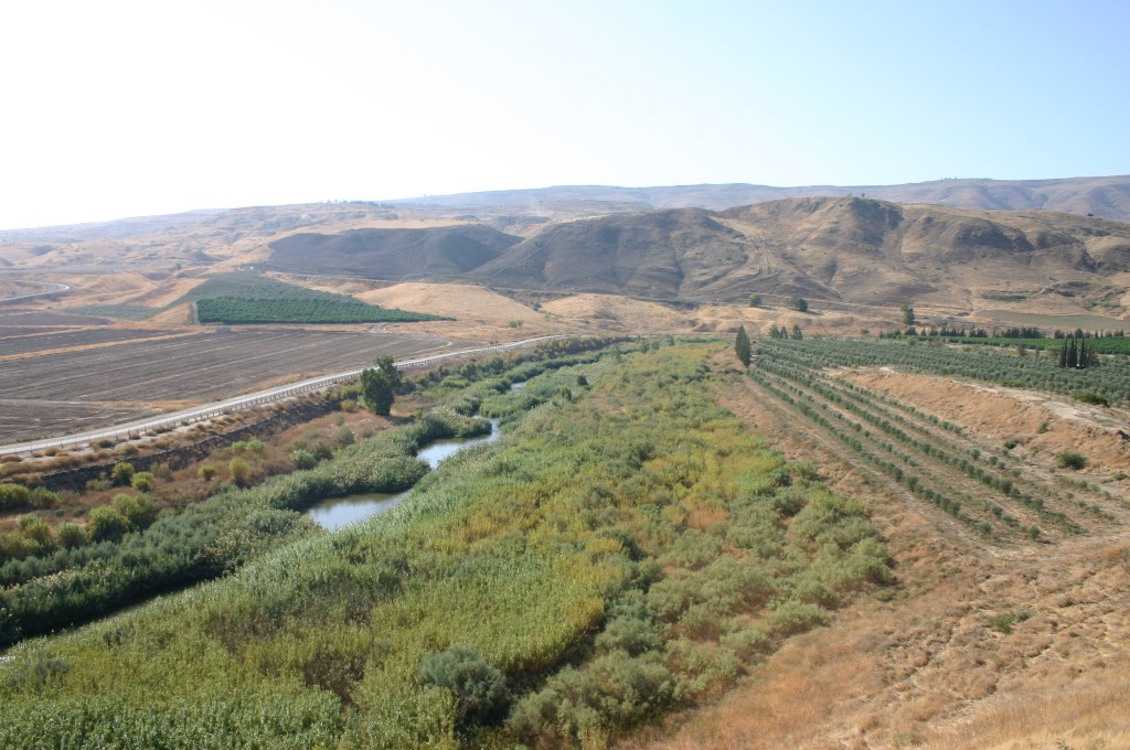A view of the Jordan River Naharayim Isle of Peace