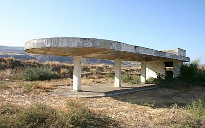 Old train station, Naharayim, Isle of Peace (photo credit: Shmuel Bar-Am)