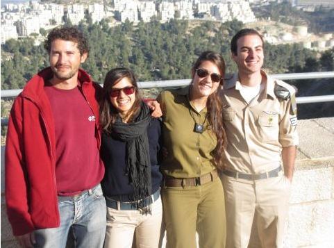 Tomer Daloomi (far right), was amazed by the forthright outlook and conversation on the bus (Courtesy Birthright Bus No. 195)