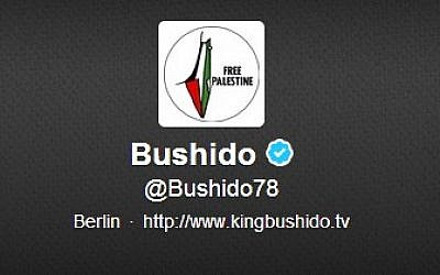 The controversial image on Bushido's Twitter page (credit: screenshot Twitter.com)