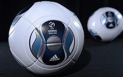 The ball to be used during the European Under-21 Championship, to be played in Israel in June of 2013. (photo credit: UEFA)