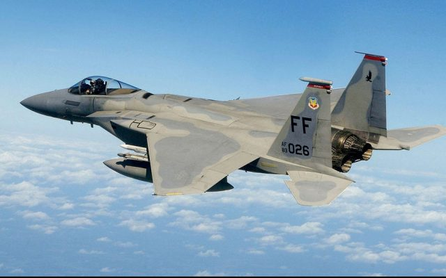 Illustrative photo of an American F-15 fighter jet (photo credit: US Air Force/Wikimedia Commons)