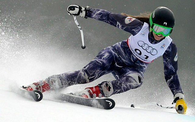 Yom Hirshfeld, slaloming down the mountain (Courtesy Yam Hirshfeld)