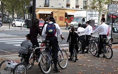 Illustrative photo of Jews in Paris (photo credit: CC BY-SA mariosp/Flickr)