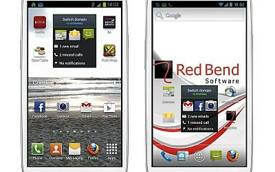 A Samsung Galaxy S III smartphone equipped with Red Bend's 'dual-persona' operating systems (photo credit: Courtesy)