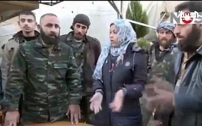 Amira al-Aarour, deputy commander of the Free Syrian Army's Aleppo brigade. (screencapture: Youtube/AlArabiya)