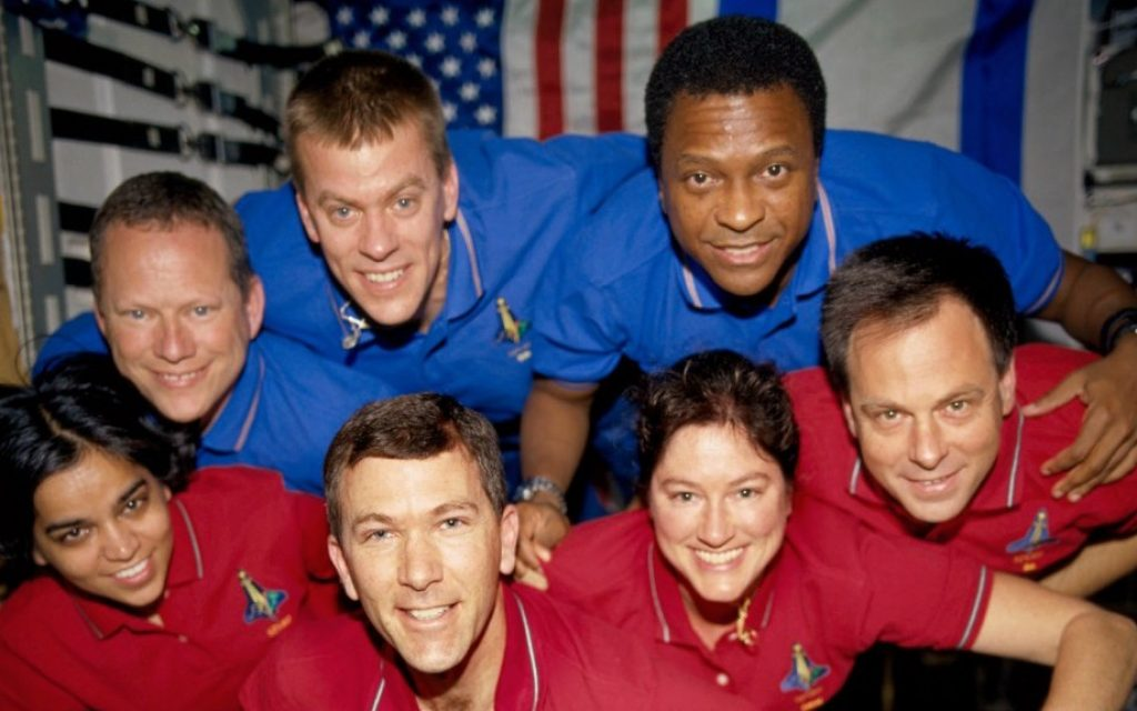 The crew of the space shuttle Columbia, seen in June 2003 (photo credit: AP/NASA/File)