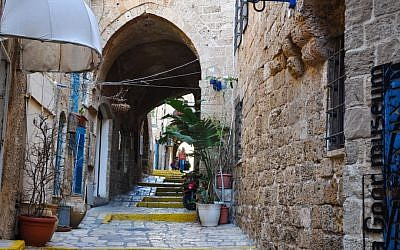 An alleyway in Jaffa's old city (Michal Shmulovich/Times of Israel)