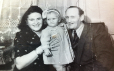 Paula Dash, pictured with her family in Germany in the late '40s, lived a long life. Her daughter, born in a DP camp and plagued by mental health problems, did not. (Courtesy of Allison Nazarian)